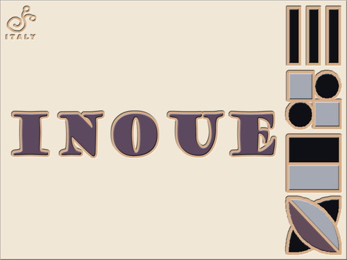 Art Deco 表札 200×150