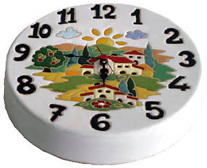 ラウンド時計(小)