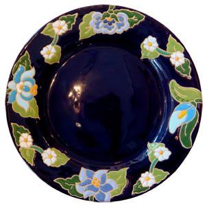 ラウンドディッシュ(平皿)花柄Φ28