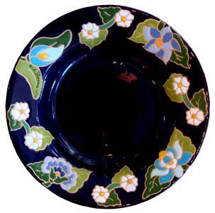 パスタディッシュ(深皿)花柄Φ24