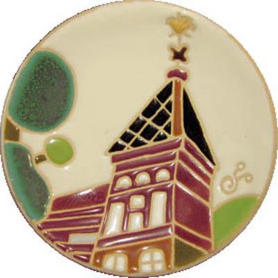 飾り皿:神戸シリーズ・風見鶏の館 10cmΦ