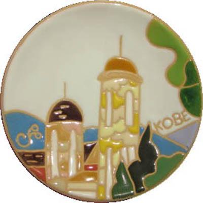 飾り皿:神戸シリーズ・うろこの家 10cmΦ