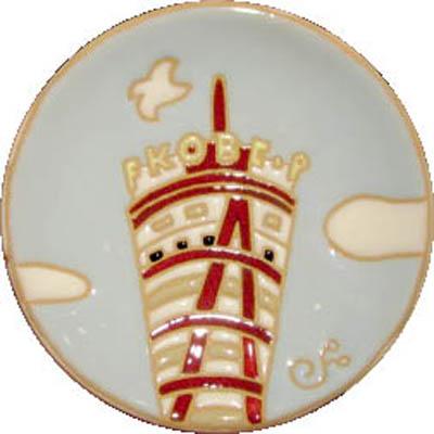 飾り皿:神戸シリーズ・ポートタワー 10cmΦ