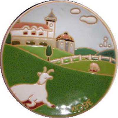 飾り皿:神戸シリーズ・六甲山牧場 12cmΦ