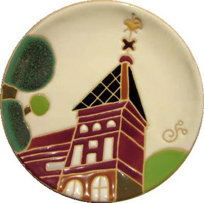飾り皿:神戸シリーズ・風見鶏の館 12cmΦ