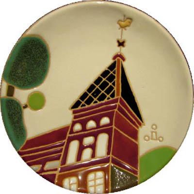 飾り皿:神戸シリーズ・風見鶏の館 15cmΦ
