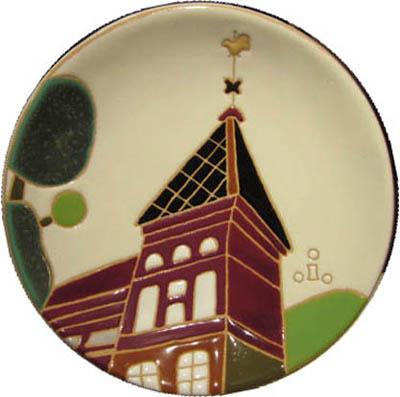 飾り皿:神戸シリーズ・風見鶏の館